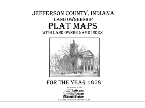 Picture of the cover of the 1878 plat map book of Jefferson County, IN