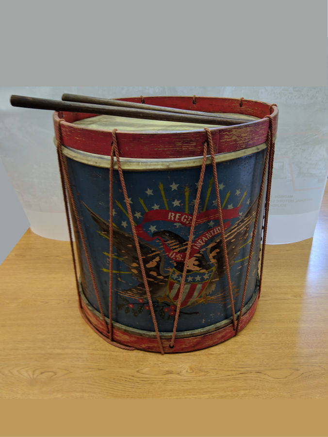 Photo of drum from the civil was.