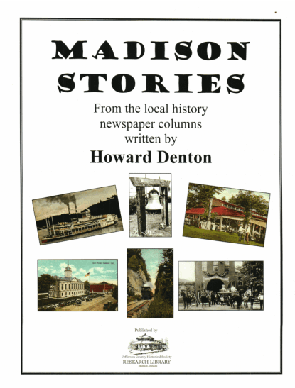 Picture of the cover of a book titled Madison Stories