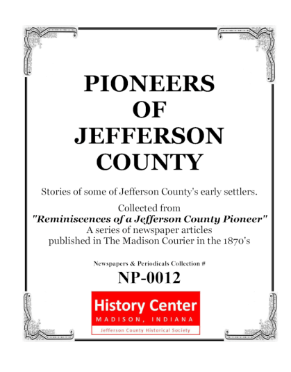 Picture of the cover of the book titled Pioneers of Jefferson County