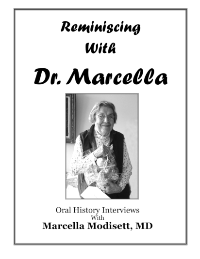 Picture of the cover of a book titled Reminiscing with Dr. Marcella